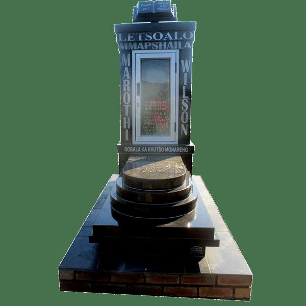 HOG200 - GLASS- tombstone - House of Granite