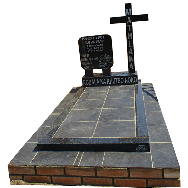 HOG64- tombstone - House of Granite