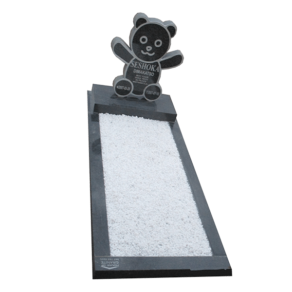 Teddy Bear tombstone - House of Granite